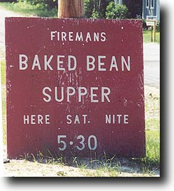 Baked Bean Suppers August 20 2001